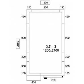 Холодильна камера - 1,2 x 2,1 м - висота: 2,01 м - 3,7 м³ KF1221E, фото 2