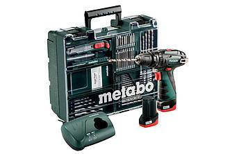 Аккумуляторный шуруповерт Metabo PowerMaxx SB  с набором Mobile Workshop
