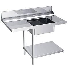 Завантажувальний стіл для посудомийних машин серії DS - установка на машину з лівого боку ZNS127BR