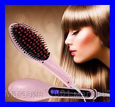 Расческа выпрямитель Fast Hair 906 с Led дисплеем!Лучший подарок, фото 2