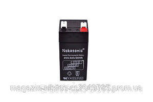 Аккумулятор NOKASONIK 4 v-4.5 ah 480 gm!Опт