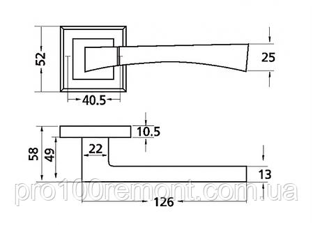 Ручка дверная на розетке МВМ TIA Z-1257, фото 2