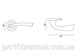 Ручка дверная на розетке МВМ TANGO Z-1259, фото 2