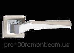 Ручка дверная на розетке МВМ NEO Z-1319 SN/CP матовый никель/полированный хром