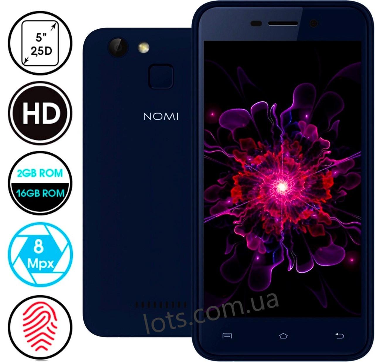 Смартфон Nomi i5013 Evo M2 Pro 2/16Gb (Blue)