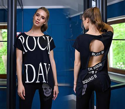 """Женская стильная футболка 87 """"ROCK DAY"""""""
