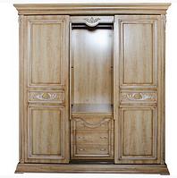 Шкаф-купе деревянный слоновая кость