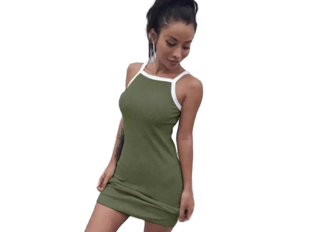 Облегающее женское платье Femme  Зеленый
