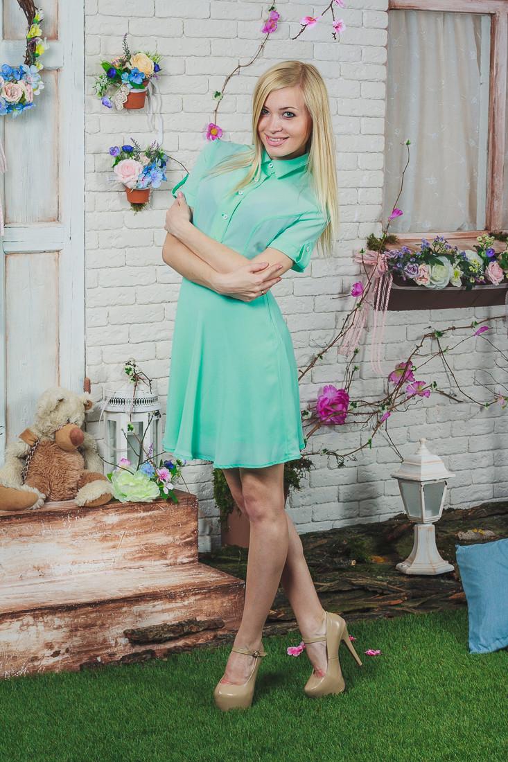 Платье летнее короткое мята