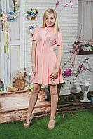 Платье летнее короткое персик, фото 1