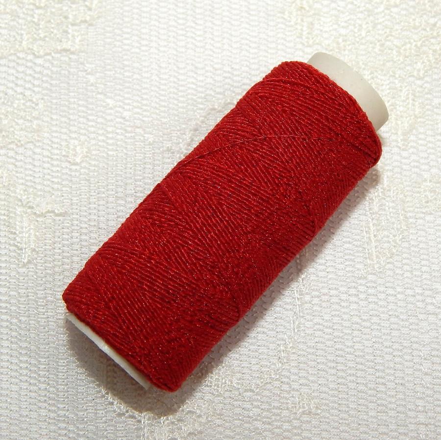 Нитка-резинка, т.красная, толщина 0,9 мм