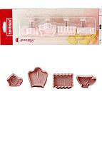 Набор формочек для вырезания печенья (4шт) Zenker 5х8см Розовый