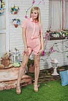 Комбинезон женский с шортами персик