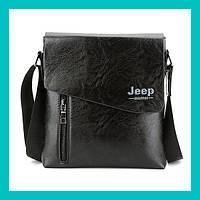Мужская сумка JEEP 9006 (черный, коричневый)!Акция, фото 1