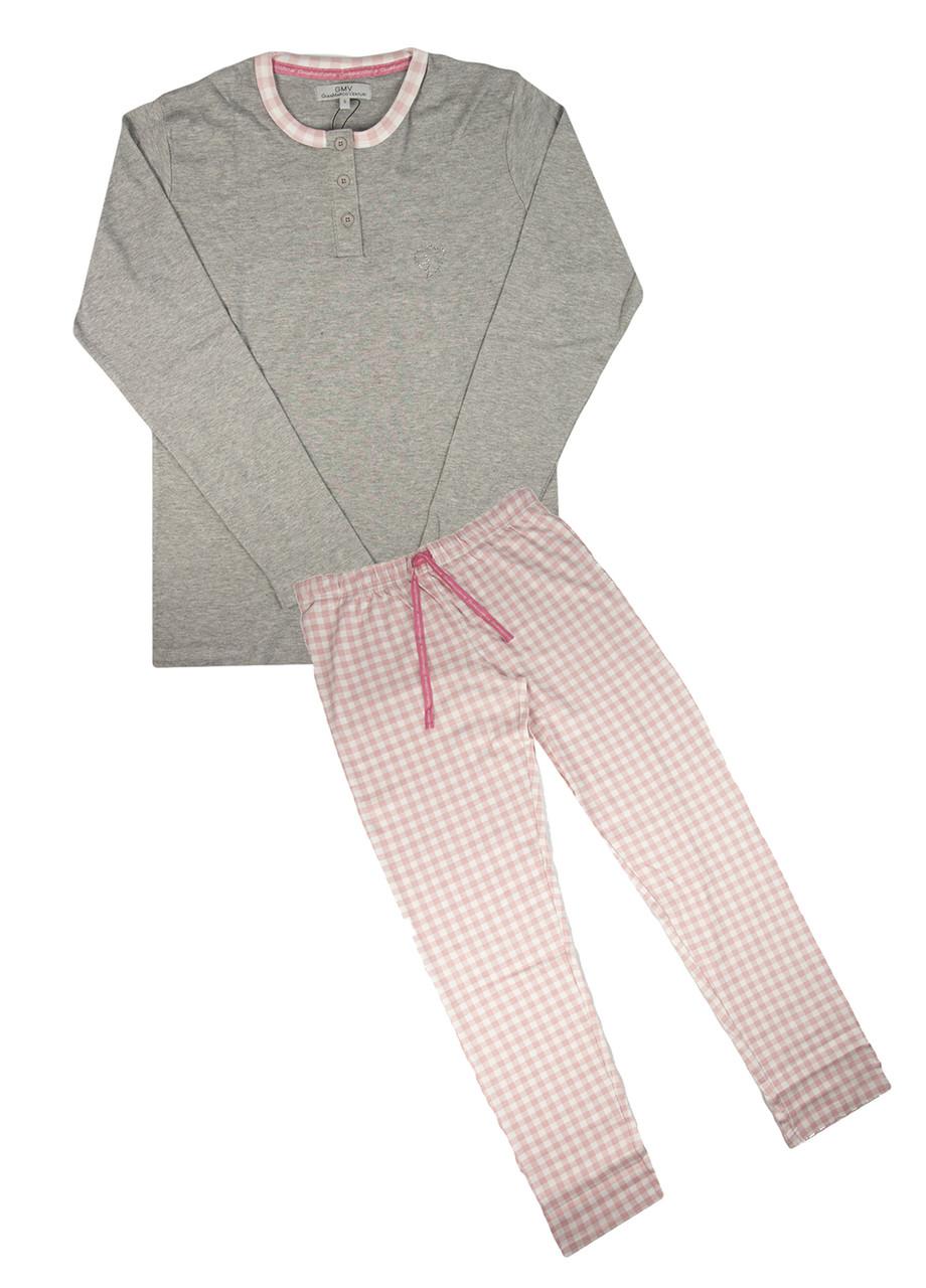 Домашний костюм GMV L Серый, Розовый