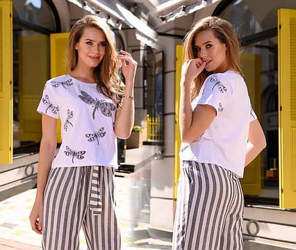 """Женская стильная футболка 96 """"Стрекозы"""""""