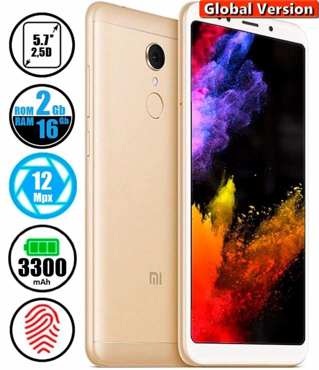 Смартфон Xiaomi Redmi 5 MIUI 10 2/16Gb Gold (Global)