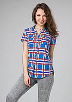 Молодежная рубашка в клетку, фото 1