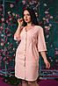 Легкое летнее женское платье-рубашка на пуговицах . Арт - 2546/64