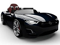 Автомобиль HENES детский; электро 12V; ПДУ Bluetooth 4.0; 8-16км/ч: кожаное кресло;