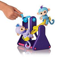 Интерактивные обезьянки Fingerlings Милли и Вилли.  Playset – See-Saw with 2 Baby Monkey Toys (3745), 5+