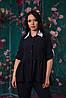 Стильная женская батальная блуза-рубашка в темных тонах. Арт-2550/64