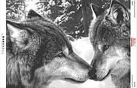 """Схема для вышивки бисером """"Волки"""" БА2-162"""