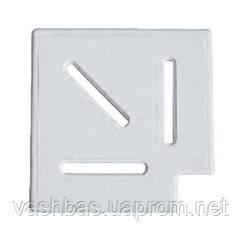 Aquaviva Угловой элемент AquaViva Classic и Grift для переливной решетки 90° 195/25 мм (белый)