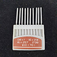 Иглы для промышленных машинок 97 класса №70 10шт., фото 1