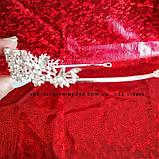 Диадема под серебро, тиара,  высота 3 см. Свадебная бижутерия под цирконий, фото 3