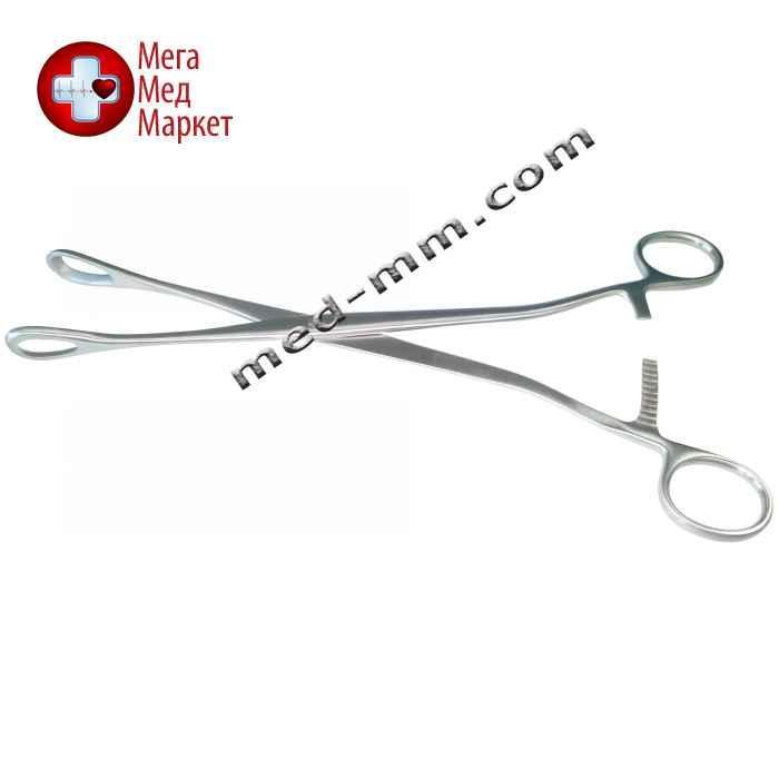 Зажим гинекологический для абортов окончатый прямой. Длина 27 см
