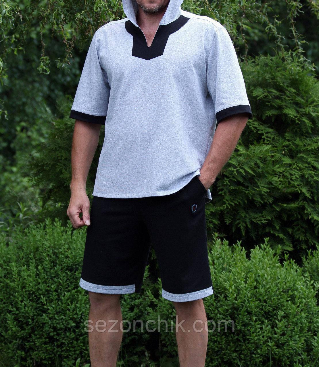 Мужской летний костюм шорты и футболка
