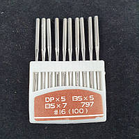 Иглы для промышленных машинок 22 класса №100 10шт., фото 1