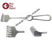 Крючок хирургический 6 зубый острый