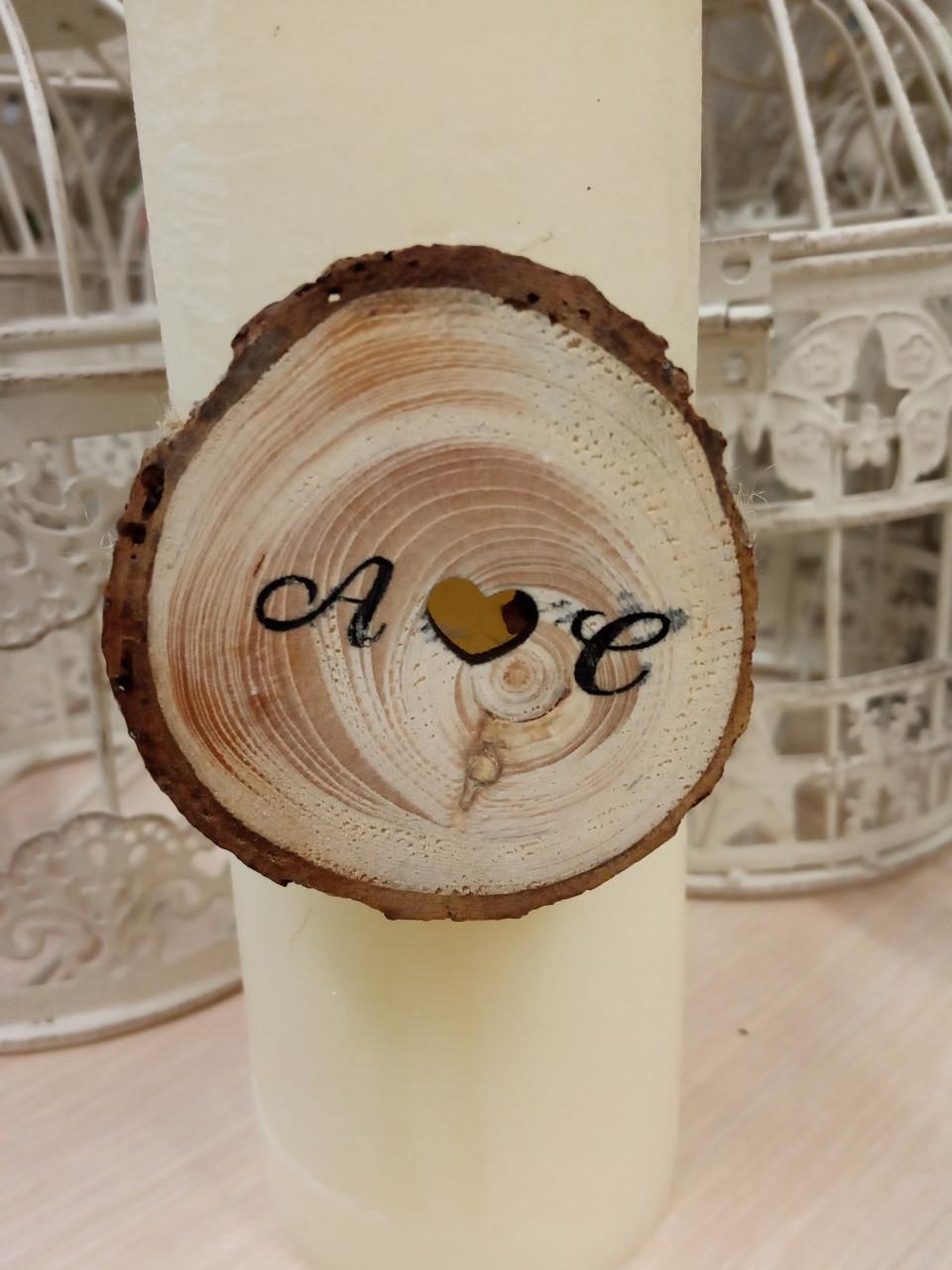 Декор на серветки, свічки до весілля