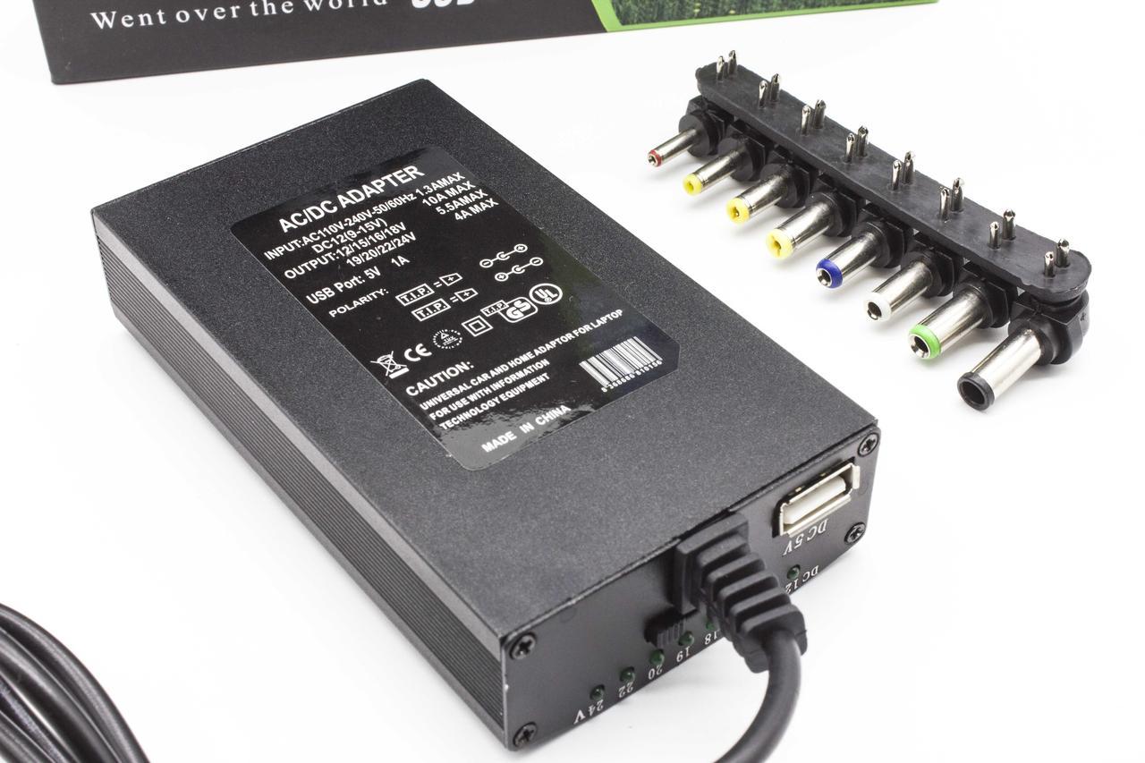 Универсальный блок питания для ноутбука в прикуриватель Laptop Adapter 4.5А 120W Черный
