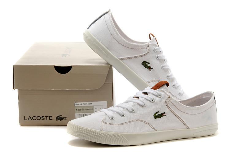 Кеды мужские Lacoste белые - Интернет магазин обуви Shoes-Mania в Днепре 3279d77d090