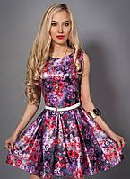 Оригинальное женское платье с поясом