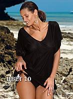Пляжная туника черная Kaya 516 от TM Marko (Польша) Цвет 10