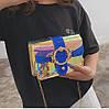 Оригінальна прозора сумка скриня з пряжкою і райдужним переливом, фото 3
