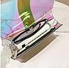 Оригінальна прозора сумка скриня з пряжкою і райдужним переливом, фото 6