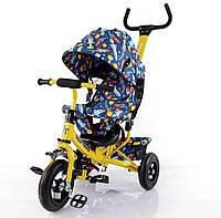 Детский трехколесный велосипед TILLY Trike  с надувными колесами  цвета для мальчика