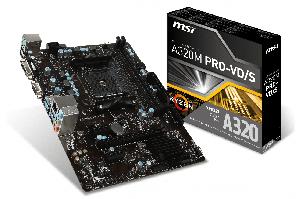 Материнская плата MSI A320M PRO-VS PLUS (sAM4, AMD A320, PCI-Ex16)
