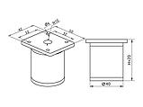 Опора (ножка) цилиндрическая регулируемая GIFF NA 03C00 Н = 50, 80, 100, 120, 150 алюминий, фото 6