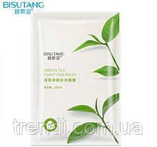Тонизирующая маска для лица с зеленым чаем, Bisutang