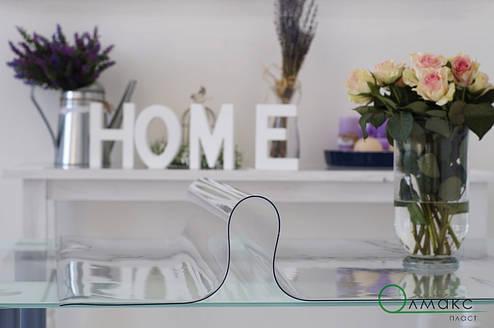 Мягкое стекло на стол оригинал, прозрачное плотное силиконовое покрытие, толщина 2 мм, Турция, фото 2