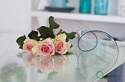 Мягкое стекло, прозрачное плотное покрытие на стол, толщина 2 мм, м'яке скло  для захисту стола ширина 0,7 м, фото 2