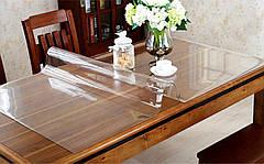 Мягкое стекло, прозрачное плотное покрытие на стол, толщина 2 мм, м'яке скло  для захисту стола ширина 0,7 м, фото 3