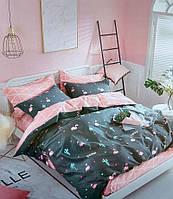 """Семейное постельное бельё с простыней на резинке (12102) хлопок """"Ранфорс"""", фото 1"""