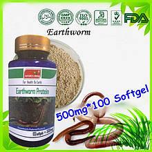 Капсулы Earthworm Protein белок активный полипептид протеиновый из экстракта дождевого червя 100шт